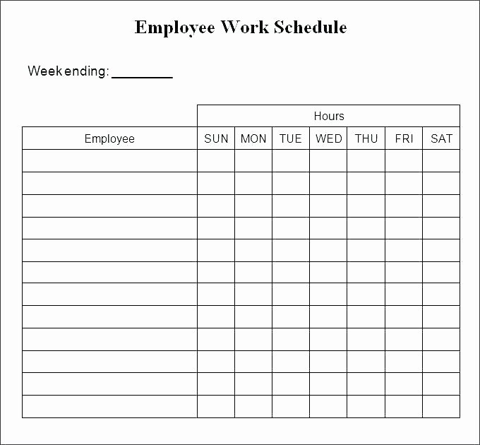 Free Weekly Work Schedule Template Best Of Printable Work Schedule Template – Whatapps