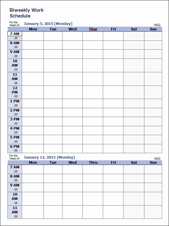 Free Weekly Work Schedule Template New 35 Sample Weekly Schedule Templates