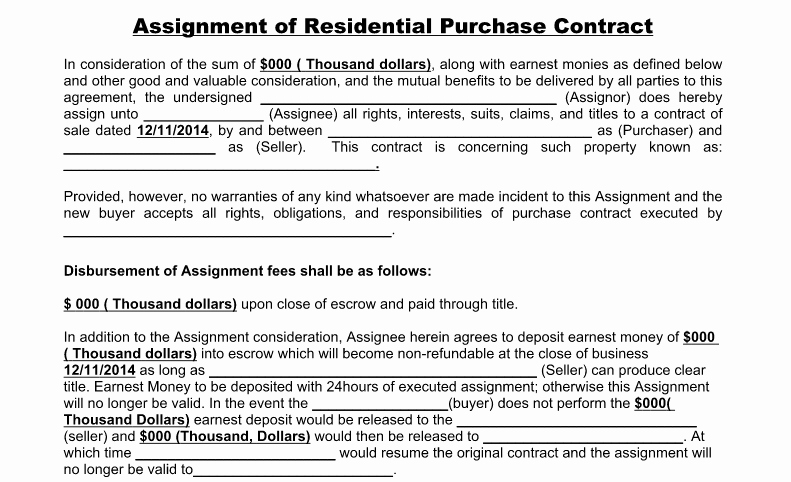 Free wholesale Contract Template Inspirational wholesale assignment Agreement Explained Equity Real Estate