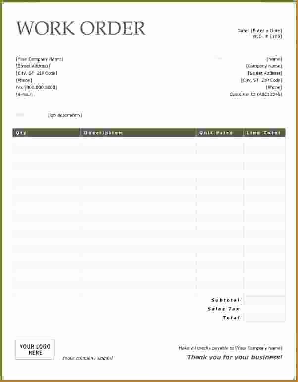 Free Work order Template Beautiful Free Work order form Template and Wallpaper