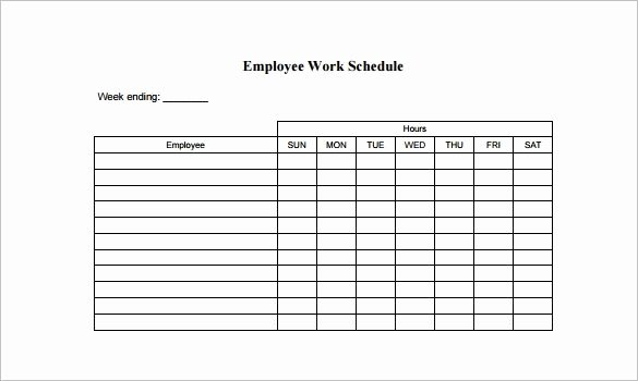 Free Work Schedule Template Luxury Free Employee Schedule Template