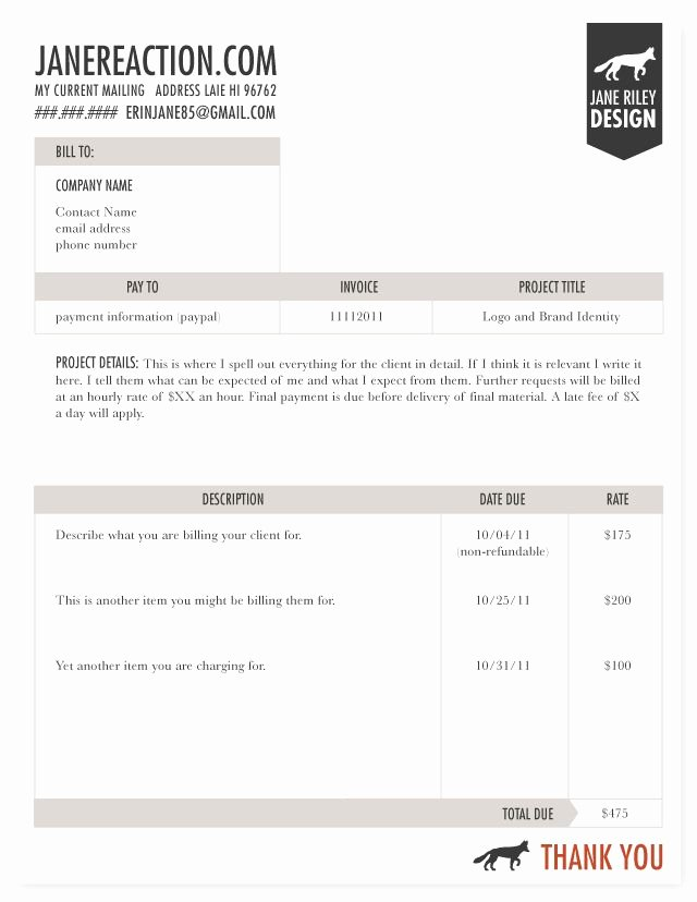 Freelance Design Invoice Template Awesome A More Professional Invoice for My Tiny Freelance Business