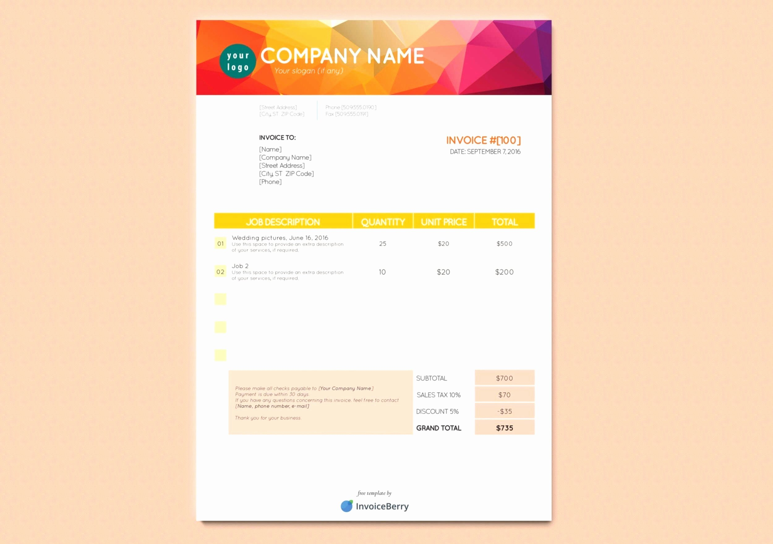 Freelance Design Invoice Template Best Of Freelance Graphic Design Invoice Template Pdf Resume