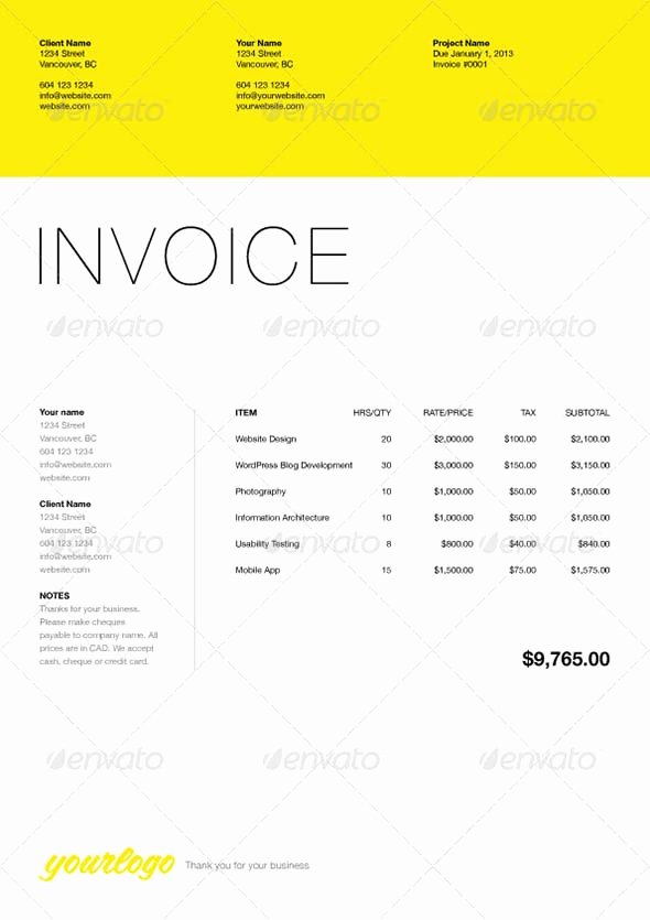 Freelance Design Invoice Template Lovely 40 Invoice Templates