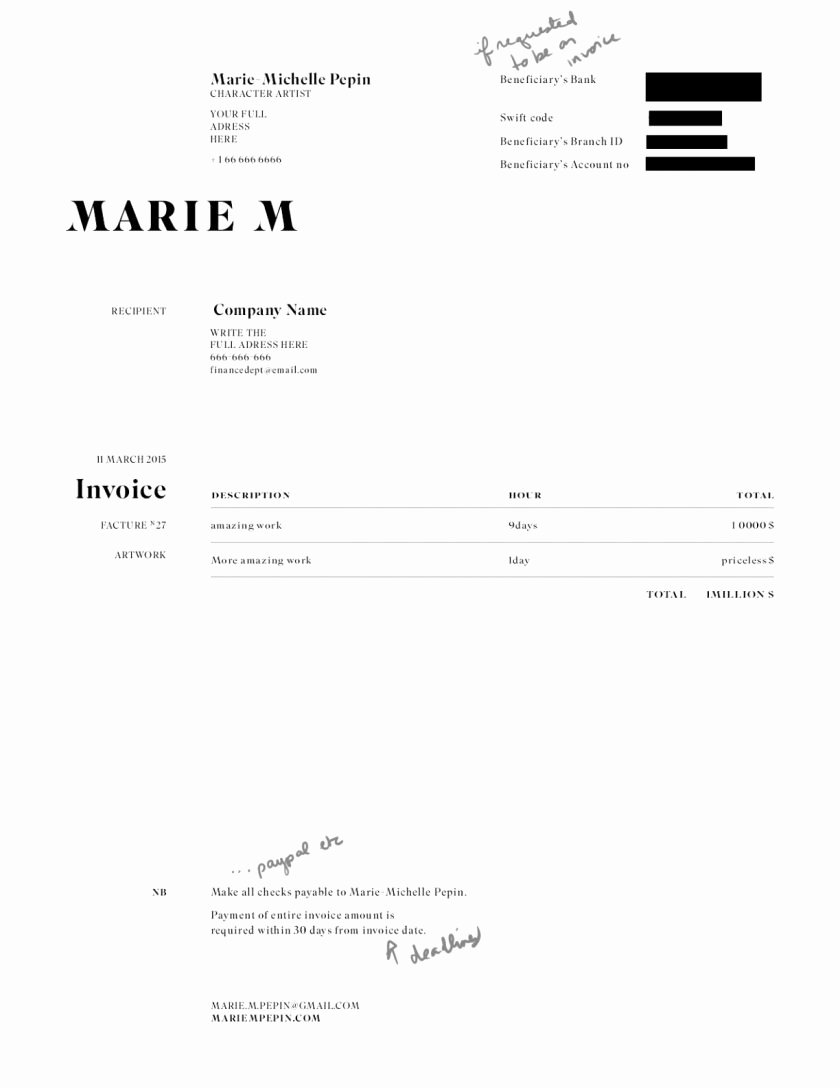 Freelance Design Invoice Template Luxury Free Freelance Independent Contractor Invoice Template