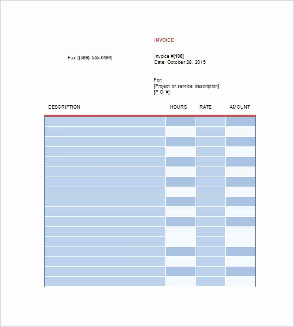 Freelance Design Invoice Template New 8 Designing Invoice Templates Doc Pdf