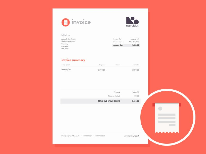 Freelance Design Invoice Template Unique Invoice Design by Samuel Nudds Dribbble