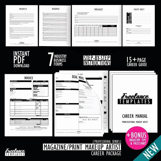 Freelance Makeup Artist Contract Template Awesome Magazine Makeup Artist Career Package Freelance Magazine