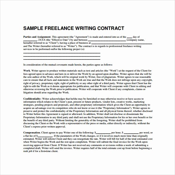 Freelance Video Contract Template Unique 8 Freelance Contract Templates Docs Word Pages