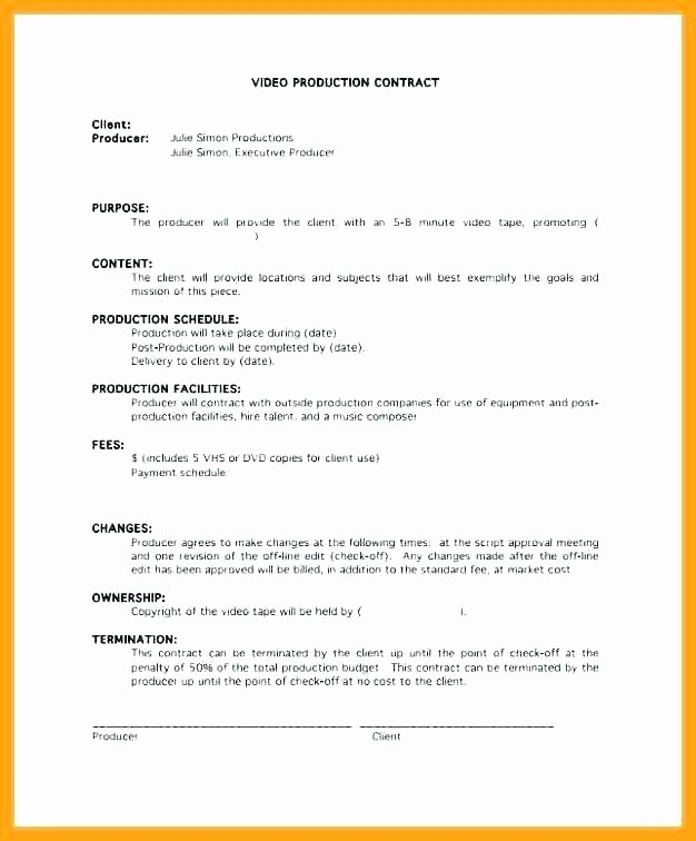 Freelance Video Editing Contract Template Fresh Freelance Editing Contract Template Business Document