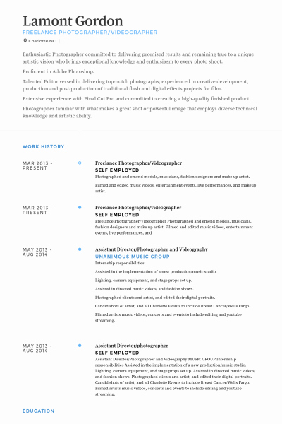 Freelance Videographer Contract Template Awesome Videographer Resume