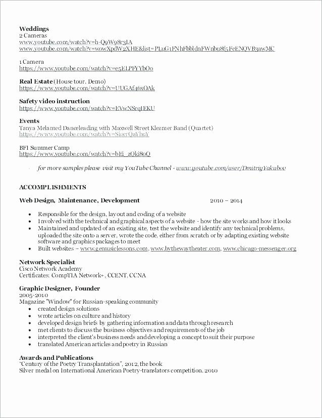 Freelance Videographer Contract Template Beautiful 97 Wedding Videographer Resume Wedding Videographer