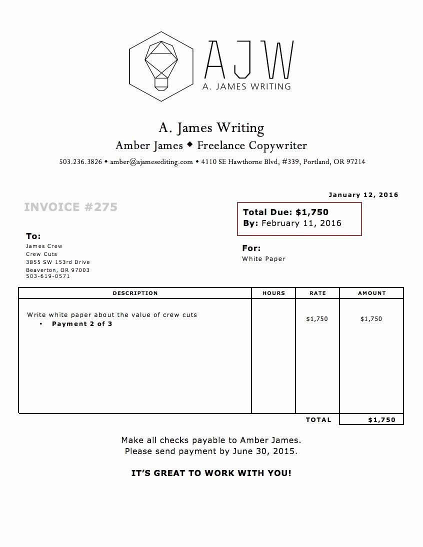 Freelance Writer Invoice Template Awesome Freelance Writing Invoiceplate the Plete Guide to
