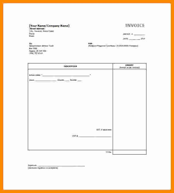 Freelance Writer Invoice Template Inspirational 5 Freelance Invoice Templates
