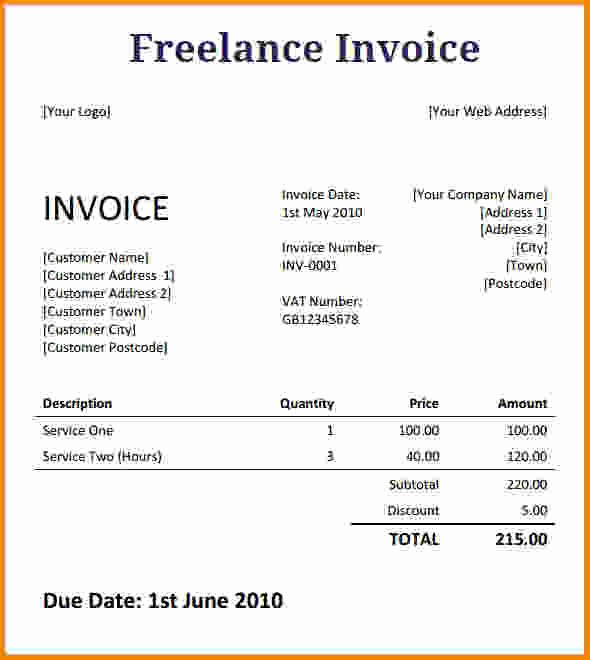 Freelance Writer Invoice Template Inspirational [download] Freelance Writer Invoice Template Bonsai