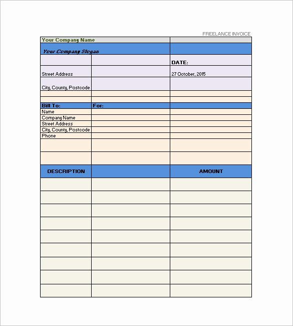 Freelance Writer Invoice Template Inspirational Freelancer Invoice Template 13 Free Word Excel Pdf