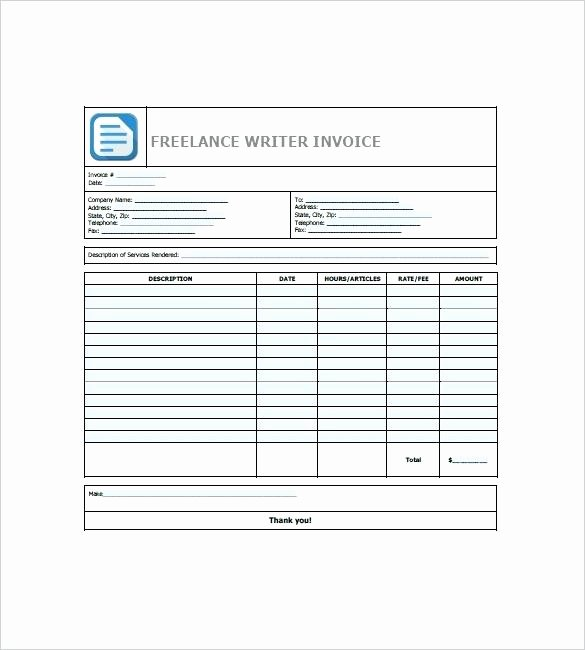 Freelance Writer Invoice Template Inspirational Written Invoice Template – Flirty
