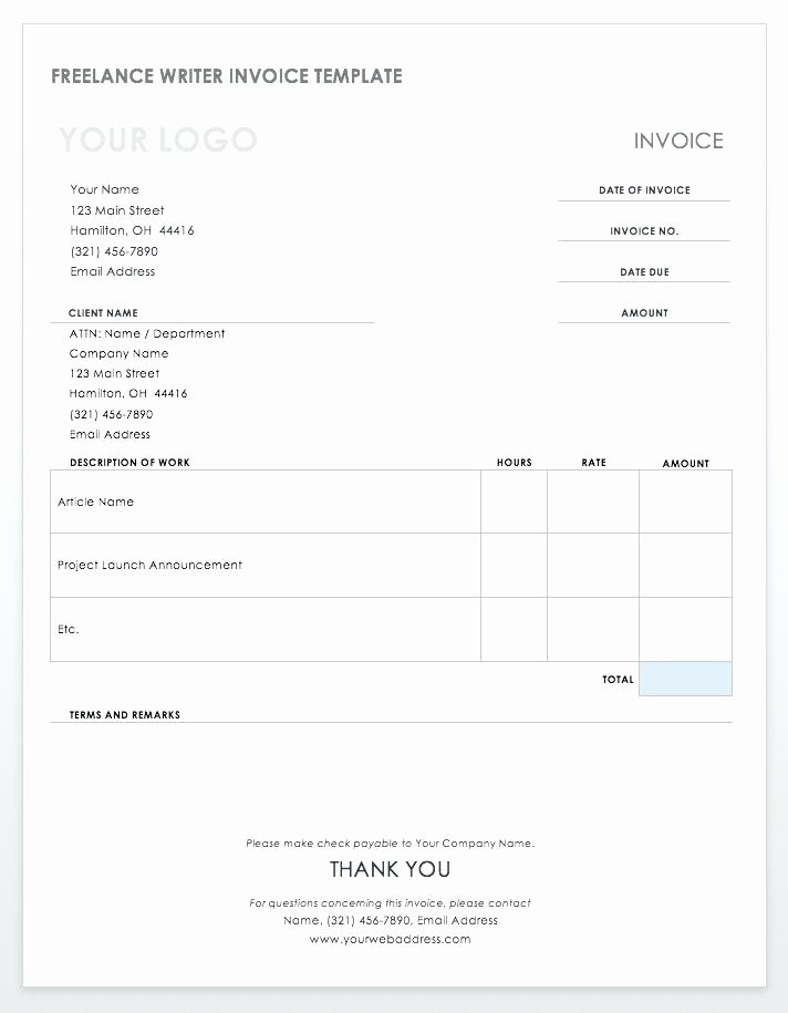 Freelance Writer Invoice Template Unique Freelance Rate Card Template Step 5 Create A Bid