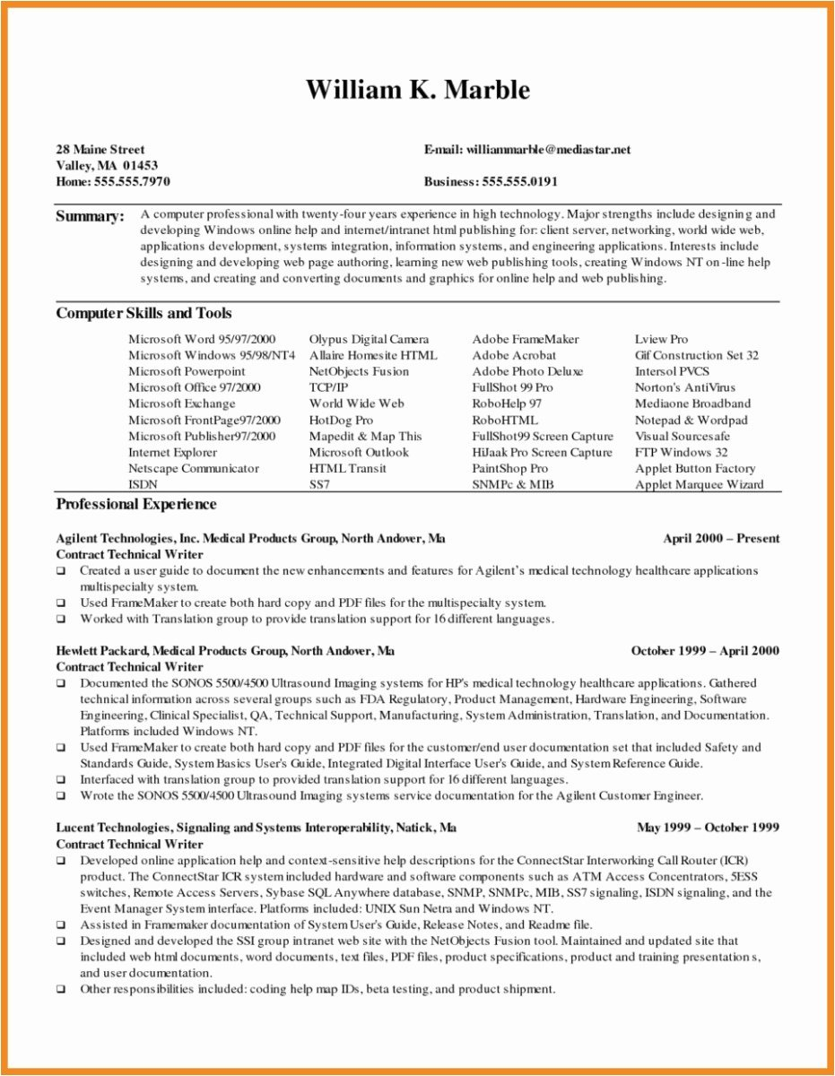 Freelance Writer Resume Template Awesome Sample Resume for Freelance Writer
