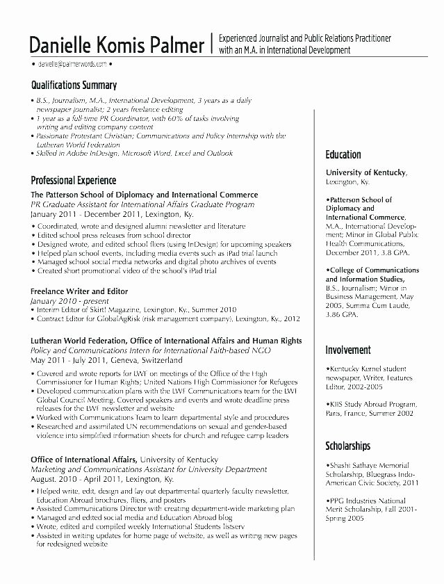 Freelance Writer Resume Template Best Of Freelance Writer Resume Example Examples Resumes and