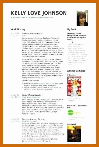Freelance Writer Resume Template Fresh 5 6 Freelance Writer Resume