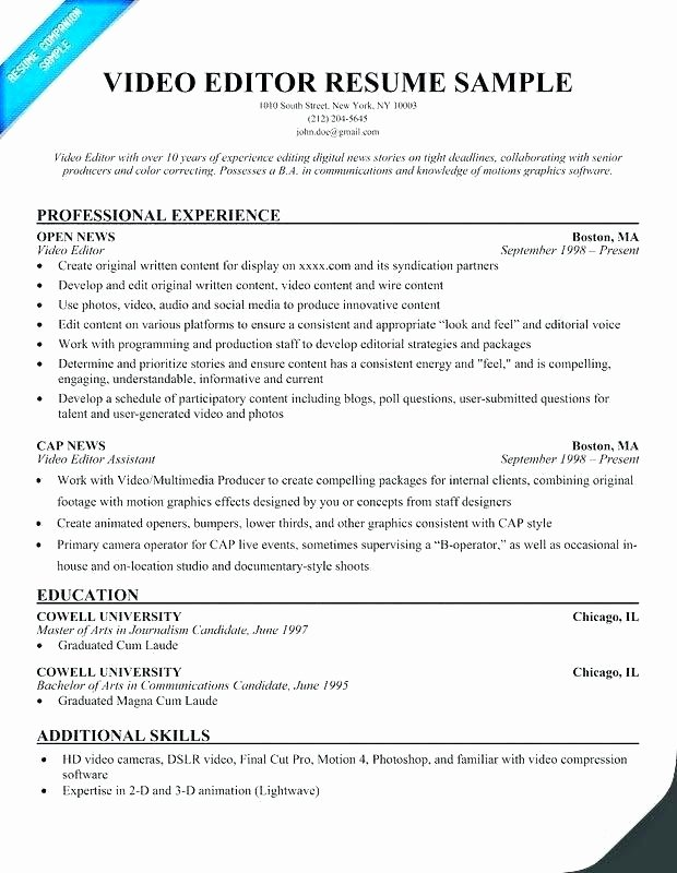 Freelance Writer Resume Template Fresh Freelance Writer Resume – Letsdeliver