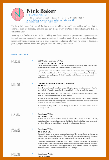 Freelance Writer Resume Template New 5 6 Freelance Writer Resume