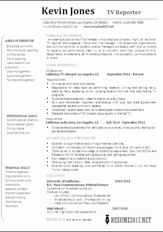 Freelance Writer Resume Template Unique Freelance Writer Resume Template