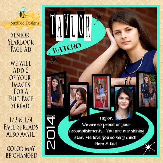 Full Page Ad Template Awesome Yearbook Ad Template High School Senior Middle