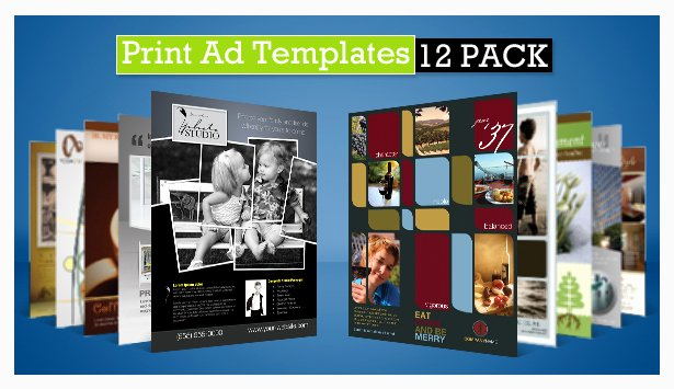 Full Page Ad Template Beautiful Print Ad Templates V3 Full & Half Page Designs