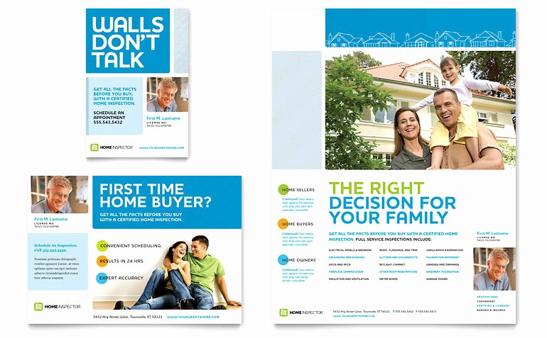 Full Page Ad Template Fresh Home Inspection & Inspector Flyer & Ad Template Word