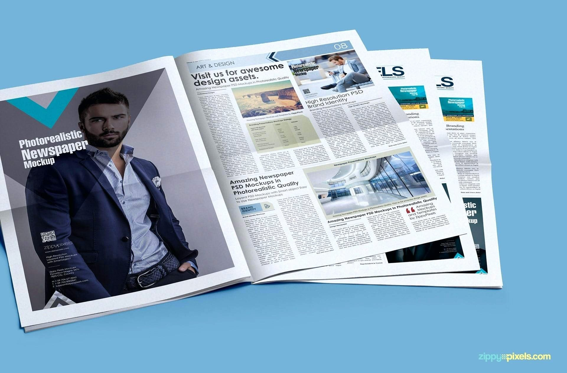 Full Page Ad Template Luxury Newspaper Psd Template