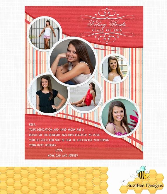 Full Page Ad Template Luxury Yearbook Ad Template High School Senior Middle by