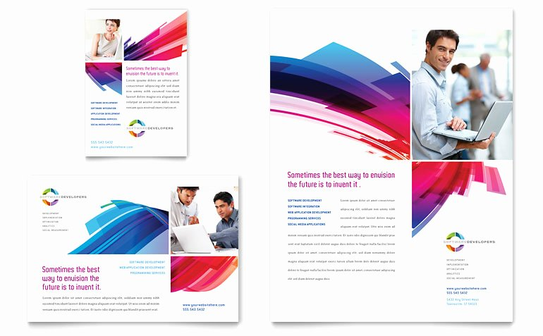 Full Page Ad Template New software solutions Flyer & Ad Template Word & Publisher