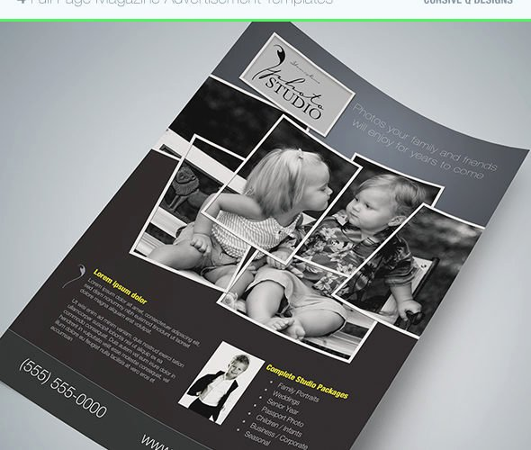 Full Page Ad Template Unique Full Page Magazine Ad or Flyer Templates Cursive Q Designs