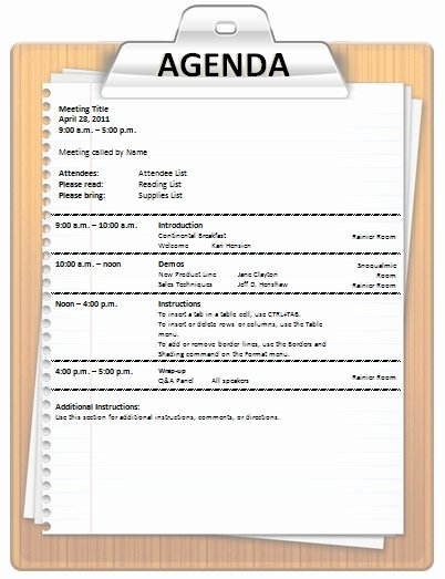 Fun Meeting Agenda Template Beautiful Agenda Template Office Pinterest