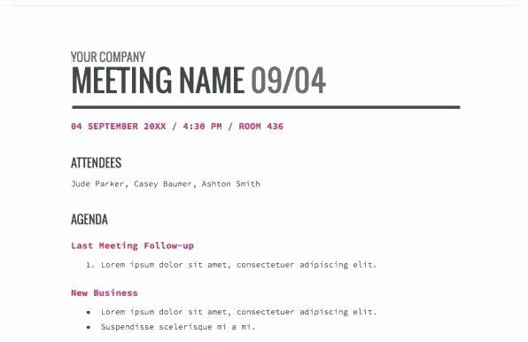 Fun Meeting Agenda Template Best Of Creative Agenda Templates 9 Best Fun Meeting