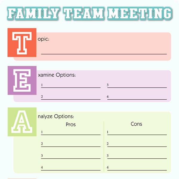 Fun Meeting Agenda Template Elegant Family Meeting tool Imom