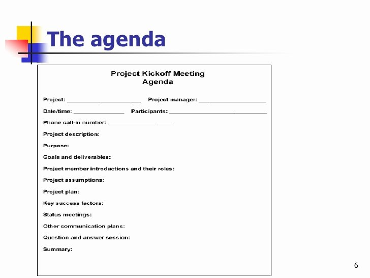 Fun Meeting Agenda Template Unique Effective Project Kickoff Meeting