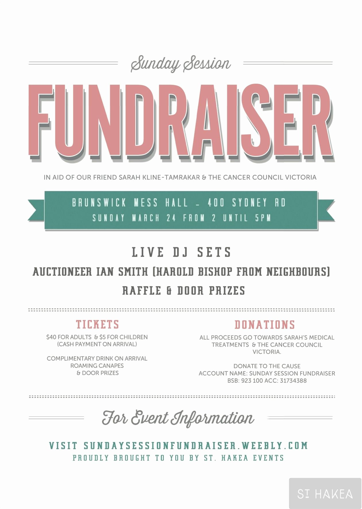 Fundraiser Flyer Template Free Elegant Sunday Session Fundraiser event Flyer Proudly Bought to