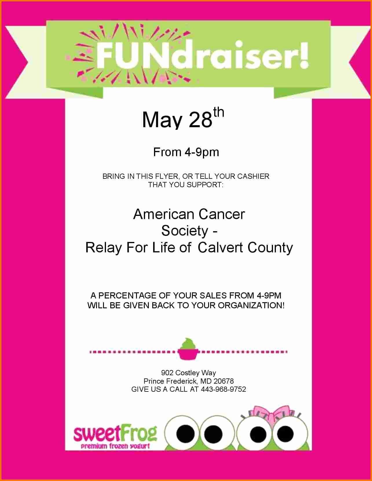 Fundraiser Flyer Template Free Inspirational Fundraiser Template