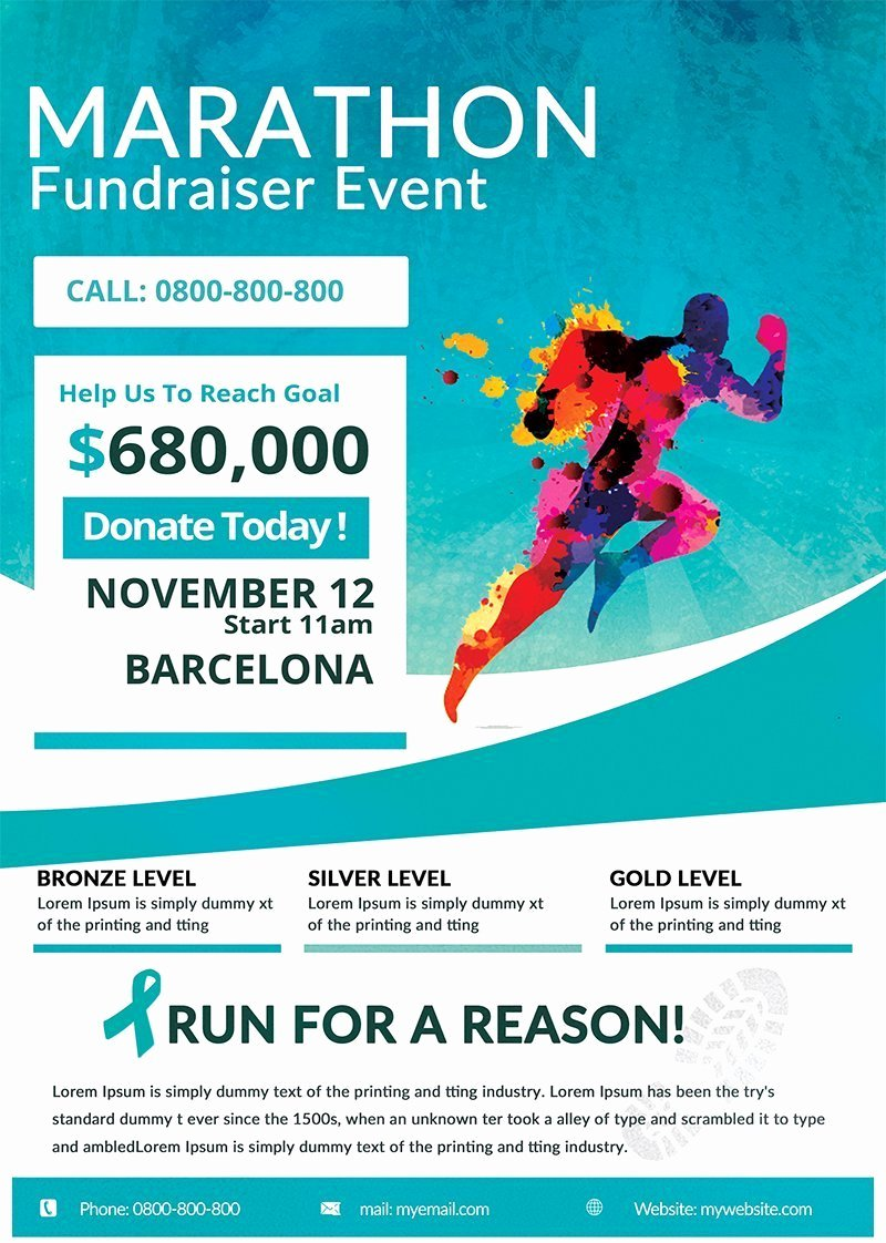 Fundraiser Flyer Template Free Luxury Marathon Fundraiser Free Flyer