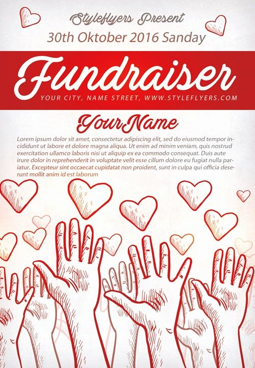 Fundraiser Flyer Template Free Luxury Munity Fundraiser Free Flyer Template Download for