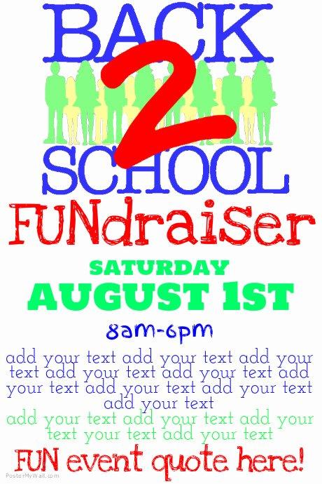 Fundraiser Flyer Template Free Unique Simple Back to School Fundraiser Flyer Poster Template