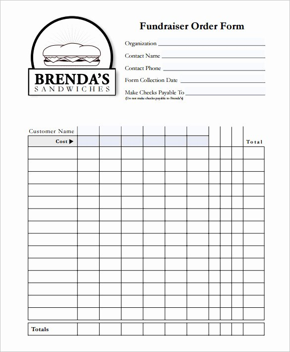 Fundraiser form Template Free Awesome 29 order form Templates Pdf Doc Excel