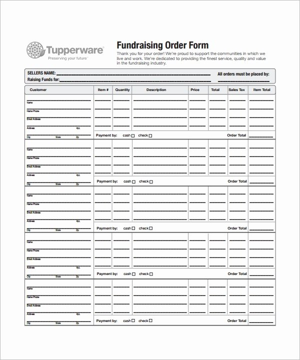 Fundraiser form Template Free Elegant order form Template 23 Download Free Documents In Pdf