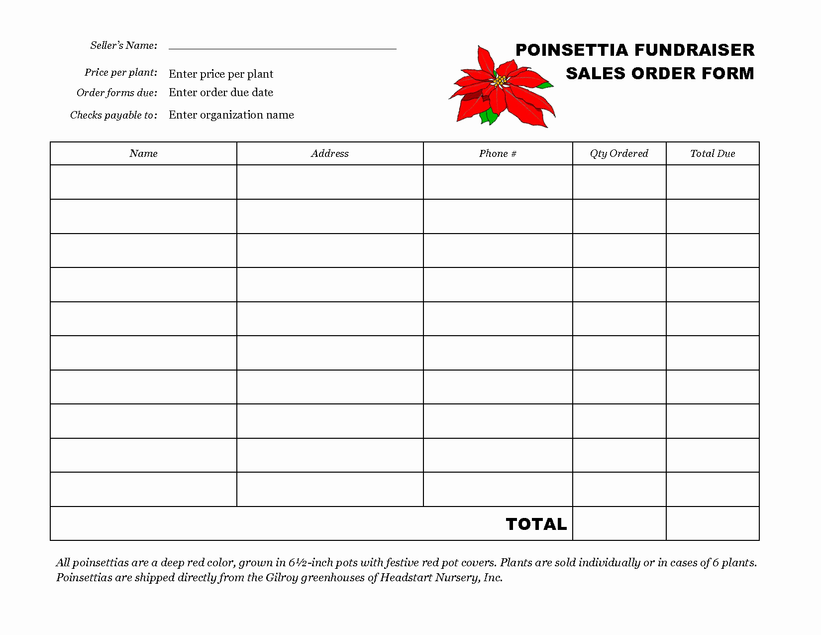 post free printable fundraiser forms