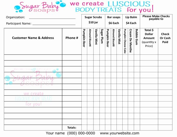 Fundraiser form Template Free Luxury Customized Fundraiser order formdigital File Onlycustomize