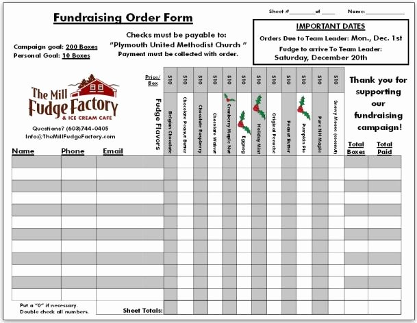 Fundraiser form Template Free Luxury Fundraiser order Templates Word Excel Samples