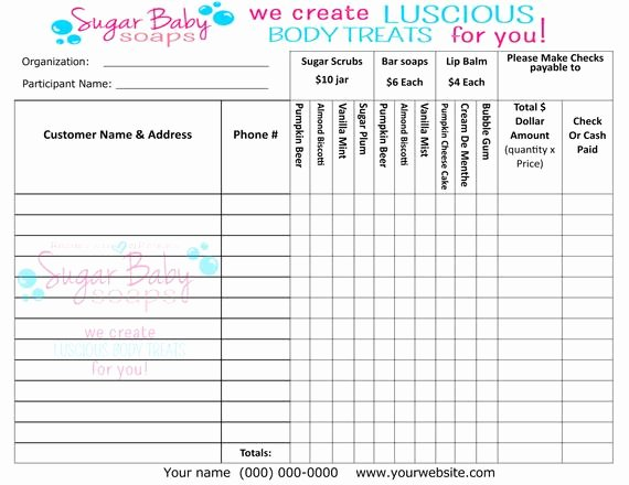 Fundraiser order form Template Free Fresh Customized Fundraiser order formdigital File Onlycustomize